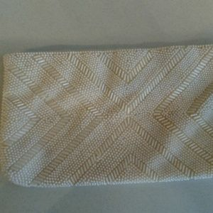 Vintage Ivory Beaded Clutch